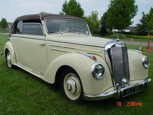 1952 Mercedes 220 Cabriolet B - hood up
