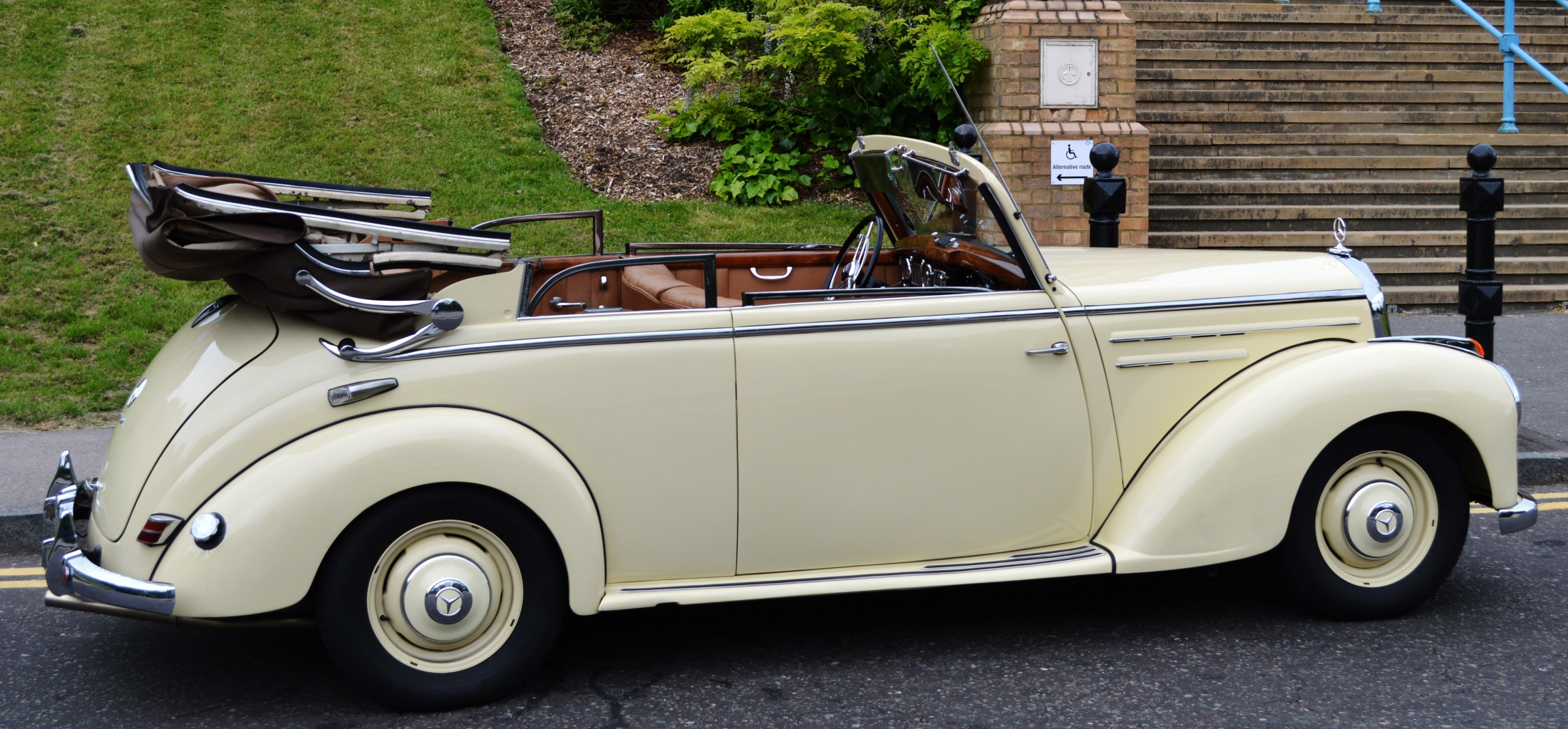 classic 1950s mercedes convertible restored and in. Black Bedroom Furniture Sets. Home Design Ideas
