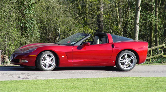 Red Corvette C6 Coupe (6.2 litre) - one owner only