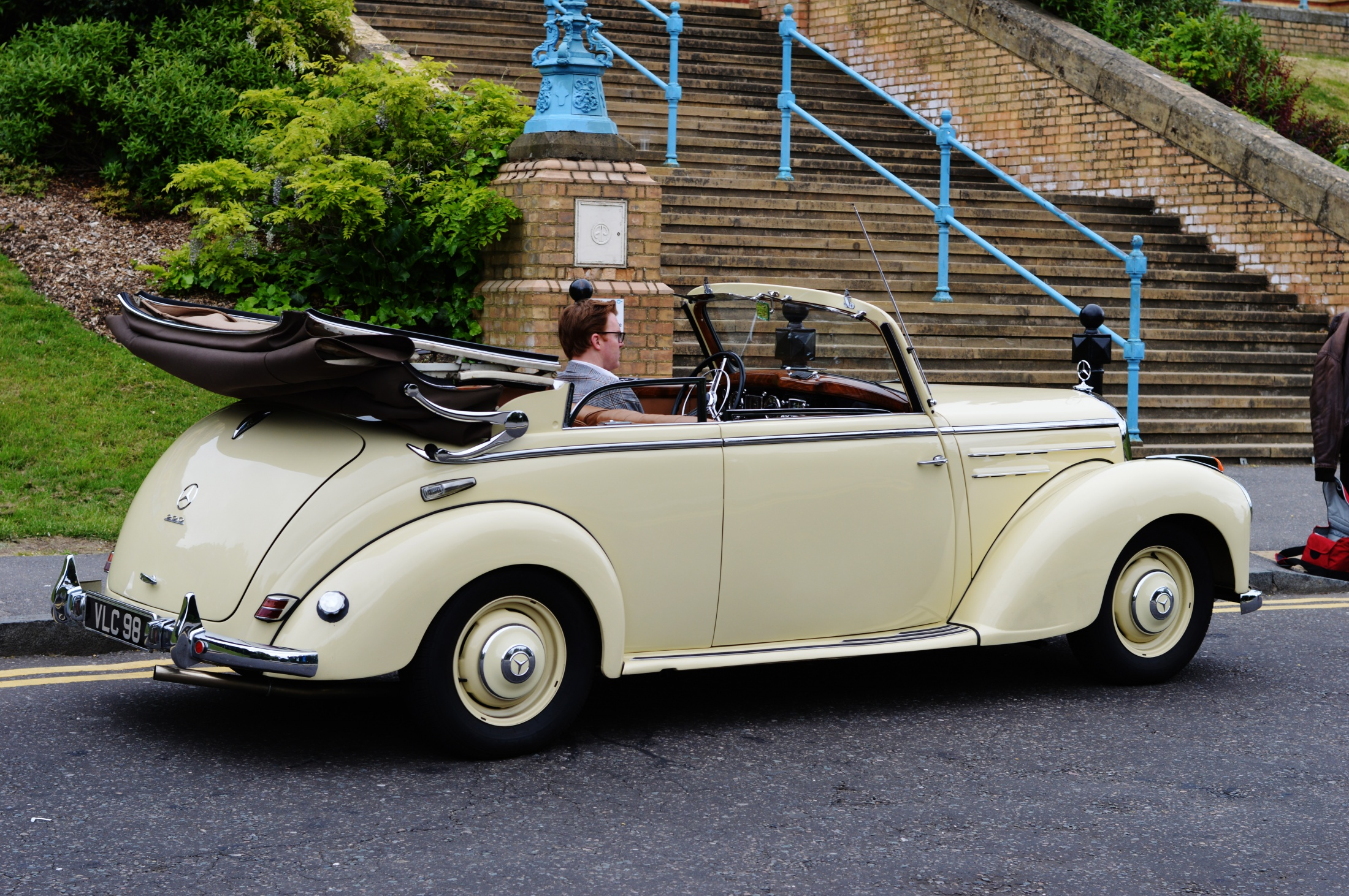 Immaculately restored 1952 Mercedes 220 Cabriolet B for Sale.
