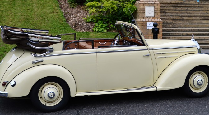 Classic 1950s Mercedes Convertible – restored and in immaculate condition.